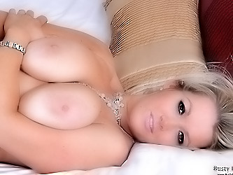 Lindsey shows melons and pussy