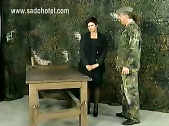 Angry Drill Instructor Forces His...