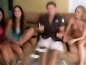 Watch very funny strip poker competition with a fuck prize