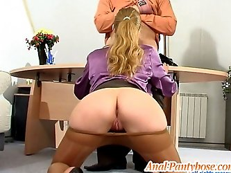 Diana&Lesley hot anal pantyhose video