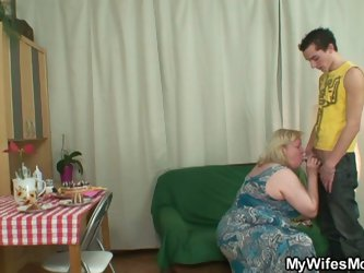 Mother in law's birthday blowjob