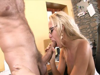 Hot blonde secretary shagged by boss