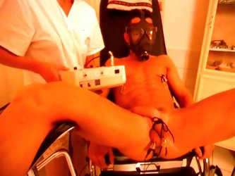 Sadistic brunette nurse loves cock torture