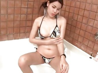 Ladyboy Grace Tiny Dick Tiny Plug Cum