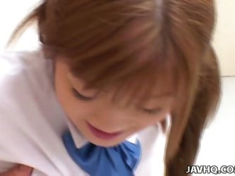 Japanese schoolgirl fucked by her teacherat home