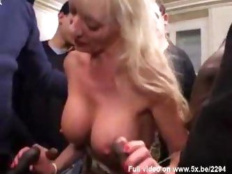 Sylvie mature gangbanged by blacks dicks