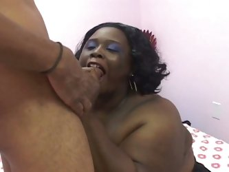 Gigantic tits shameless ebony hustler taking black boner