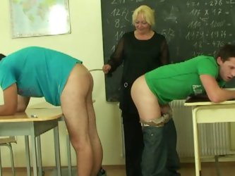 Nasty kind of lesson from a horny mature professor