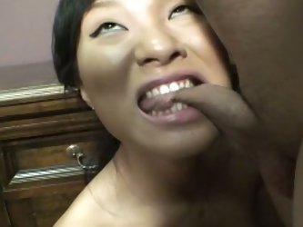 Ball-busting asian bitch bites