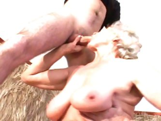 Blonde granny fucking dude