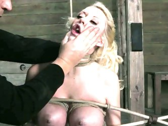 Horny slaves pleasured in a rough and nasty way