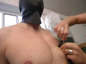 Nasty slut loves a hot torture