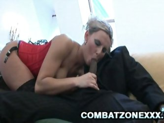 Monster black cock stuffing blonde whore