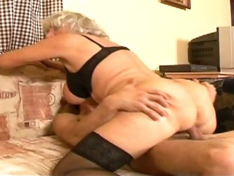 Mature grandma is a wild whore