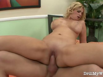 Husband offers blonde wife to a stranger for a good fuck