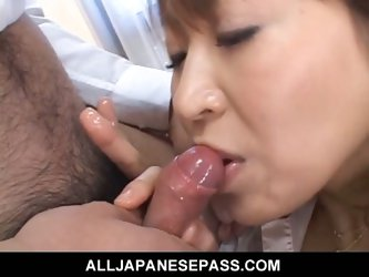 Japanese milf jun kusanagi toyed by bosses