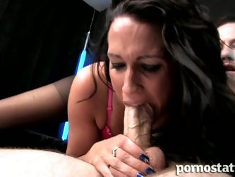 British brunette tammie lee chows down on cock
