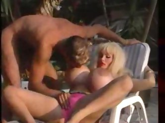 Legendary Lolo Ferrari gets her holles filled and her fake tits creamed