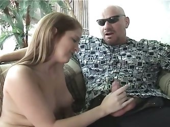 Daddy's thick cock whacks amateur blonde teen