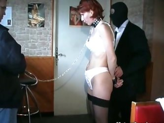 Mature slut in chains