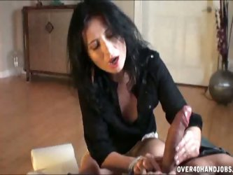 Handjob by mom