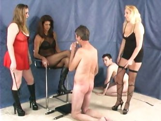 Slaves suffer three mistresses party