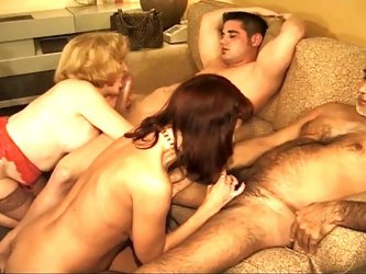 Two mature couples fucking
