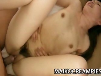 Hardcore drilling with asian kazue yabuta