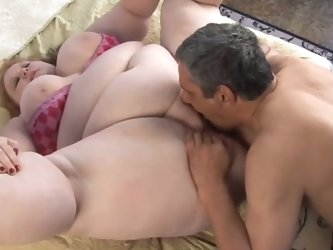 Red head bbw slut sucking cock wildly