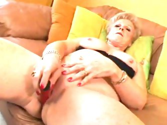 Sexy mature blonde champagne fucked