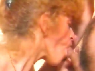 Bathroom fucking for redhead granny