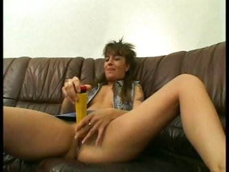 Pervy milf drilled doggy style by horny dude