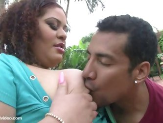 Big booty latina miss angel fucks outdoors