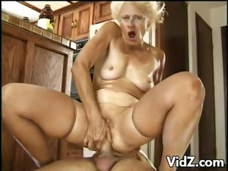 Granny sucks and fucks two studs