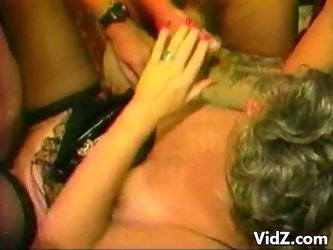 Hot granny wants all her holes cock-filled and cum showered