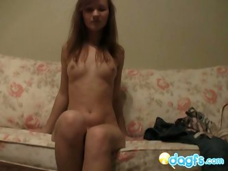 Horny russian pussy poses on cam
