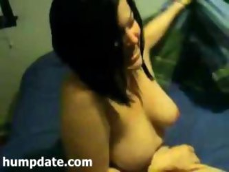 Chubby girlfriend gets fucked and jizzed on