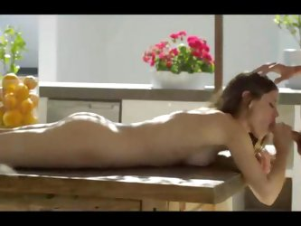 Stunning sex on the table