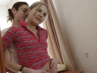 Ivana and Natasha are licking trimmed pussies