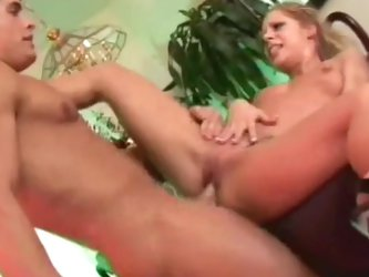 Ponytailed blonde was fucked in her asshole