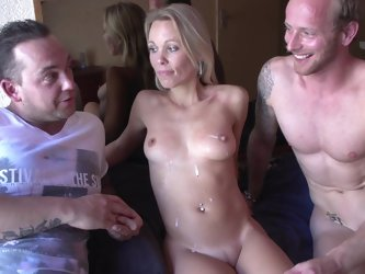 Slender blonde Anette is getting fucked in her face