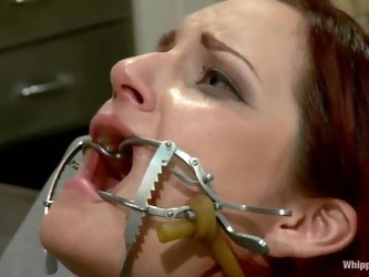 Two nasty redhead chicks make hot femdom show in a hospital