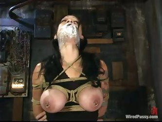 Naughty Brunette Krissy Kage Gets Dominated by a Bitch who Toys Her Pussy