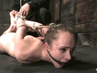 Pretty Maya Matthews gets suspended and whipped