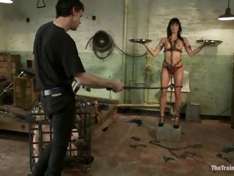 Stunning Gia Dimarco gets chained and then toyed hard