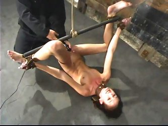 Sexy Hailey Young gets hog tied and toyed with a vibrator