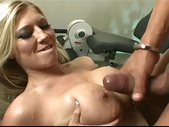 Michelle Barratt blows devotedly and gets her bald pussy slammed