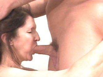Marino being drilled in her saggy tits and face
