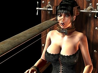 The potential for pain in the 3d BDSM is incredible and she's hot.