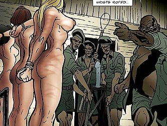 The American babes are captured in an African camp to be used hard.
